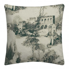 Clarke and Clarke  Colony Anastacia Charcoal Cushion Covers