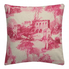 Clarke and Clarke  Colony Anastacia Raspberry Cushion Covers