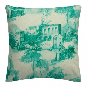 Clarke and Clarke  Colony Anastacia Teal Cushion Covers