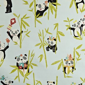 Prestigious Textiles Playtime Panda Aqua Made to Measure Curtains