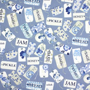 Prestigious Textiles Pickle Pantry Indigo Curtain Fabric