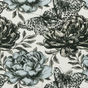 Clarke and Clarke Floribunda Papillon Mineral Made to Measure Curtains