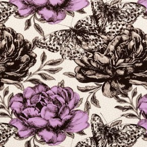 Clarke and Clarke Floribunda Papillon Sorbet Made to Measure Curtains