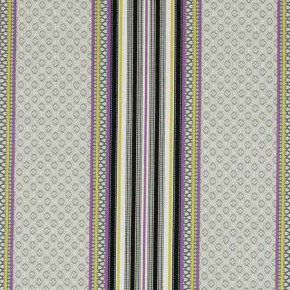 Clarke and Clarke Chateau Paradiso Acacia/Violet Curtain Fabric