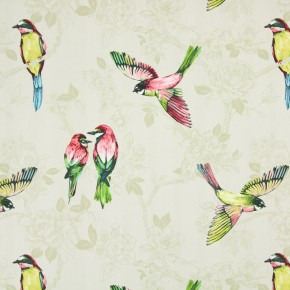 Italian Gardens Paradiso Pomegranate Curtain Fabric