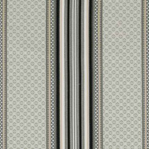 Clarke and Clarke Chateau Paradiso Smoke/Ebony Curtain Fabric