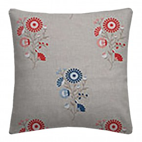 Clarke and Clarke Oslo Arla Coral Denim Cushion Covers