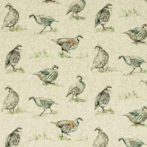 Clarke and Clarke Countryside Partridge Linen Curtain Fabric