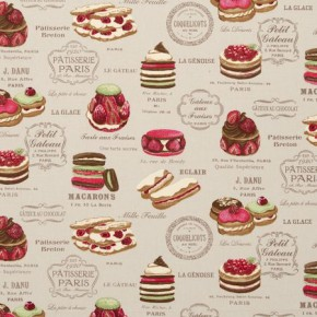 Clarke and Clarke Sketchbook Patisserie Linen Curtain Fabric