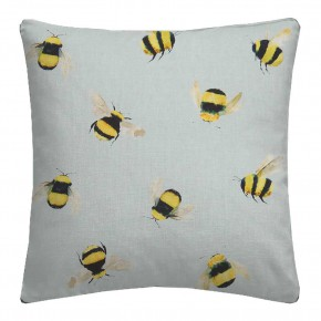 A Village Life  Bees  Duckegg Cushion