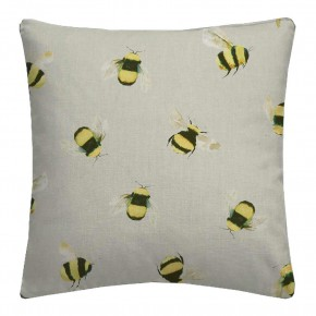 A Village Life  Bees  Taupe  Cushion