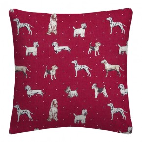 Clarke and Clarke Blighty Best Of Show Red Cushion Covers