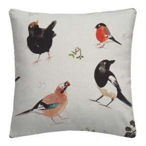 A Village Life  Bird Watch  Cream  Cushion
