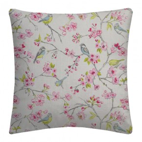 Clarke and Clarke Garden Party Birdies Pink Cushion Covers