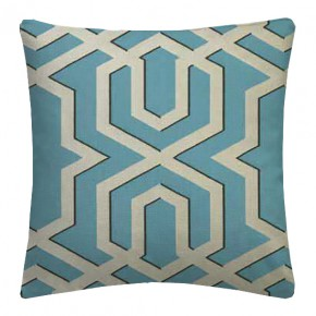 Clarke and Clarke Chateau Bolevard Aqua Cushion Covers