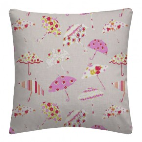 Clarke and Clarke Blighty Brollies Pink Cushion Covers