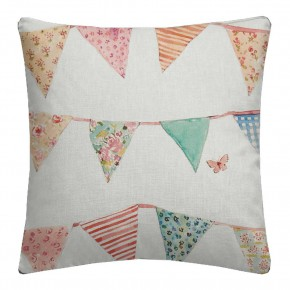 A Village Life  Bunting Cream  Cushion