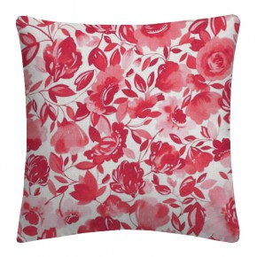 Clarke and Clarke Artbook Caitlin Linen Raspberry Cushion Covers