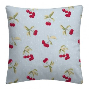 Clarke and Clarke Blighty Cherries Duckegg Cushion Covers