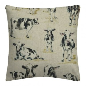 Clarke and Clarke Countryside Cows Linen Cushion Covers