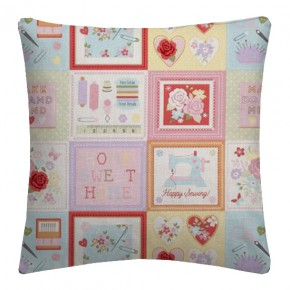 Clarke and Clarke Sketchbook Craftwork Pink Cushion Covers