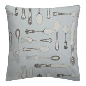 Clarke and Clarke Blighty Cutlery Duckegg Cushion Covers