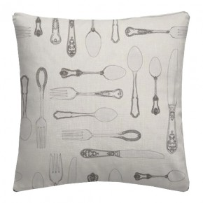 Clarke and Clarke Blighty Cutlery Natural Cushion Covers