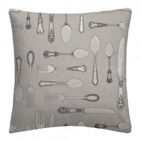 Clarke and Clarke Blighty Cutlery Taupe Cushion Covers