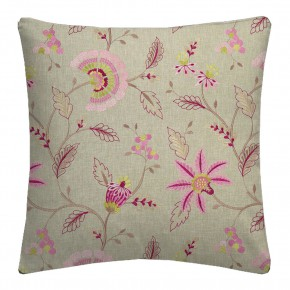Clarke and Clarke Halcyon Delamere Raspberry Cushion Covers