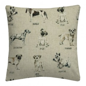 Clarke and Clarke Countryside Dogs Linen Cushion Covers