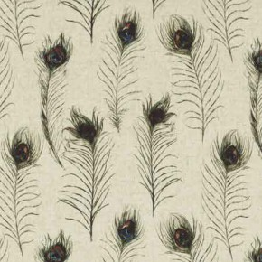 Clarke and Clarke Countryside PeacockFeathers Linen Curtain Fabric