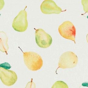 A Village Life  Pears Cream  Curtain Fabric