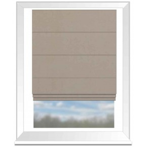 Clarke and Clarke Altea Pebble Roman Blind