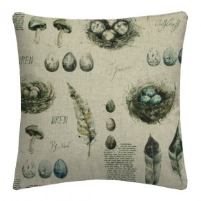 Clarke and Clarke Countryside Eggs&Nests Linen Cushion Covers