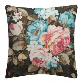 Clarke and Clarke  Colony Emeline Charcoal Cushion Covers