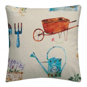 A Village Life  English Garden  Taupe  Cushion