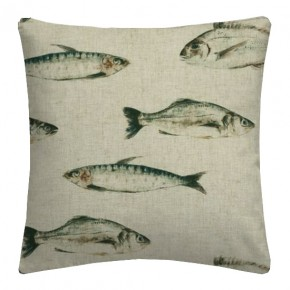 Clarke and Clarke Countryside Fish Linen Cushion Covers
