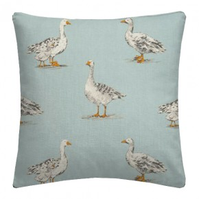 Clarke and Clarke Blighty Geese Duckegg Cushion Covers