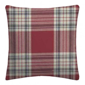 Clarke and Clarke Glenmore Clarke and Clarke Glenmore Red Cushion Covers