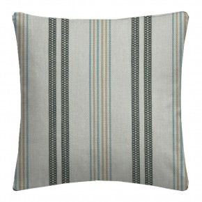 Clarke and Clarke  Colony Grenada Charcoal/Sky Cushion Covers