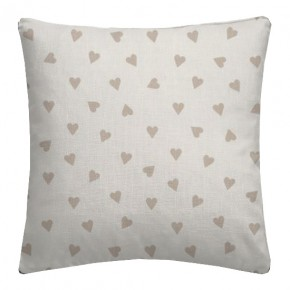 Clarke and Clarke Sketchbook Hearts Taupe Cushion Covers