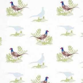 Clarke and Clarke Blighty Pheasants Natural Curtain Fabric