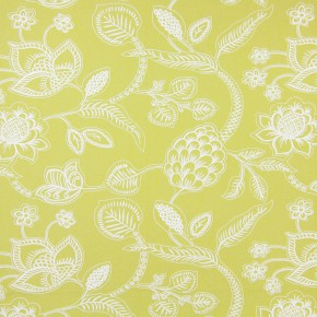 Indigo Phoenix Citrus Curtain Fabric
