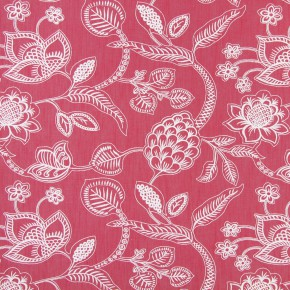 Indigo Phoenix Cranberry Curtain Fabric