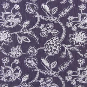 Indigo Phoenix Navy Curtain Fabric