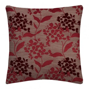 Prestigious Textiles Eden Hydrangea Cranberry Cushion Covers