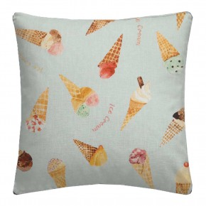 A Village Life  Ice Cream Parlour Blue  Cushion