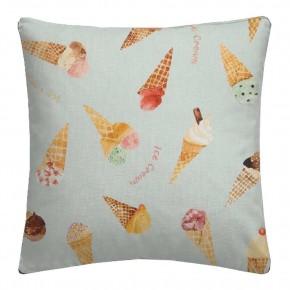 A Village Life  Ice Cream Parlour Blue  Cushion CoA Vers