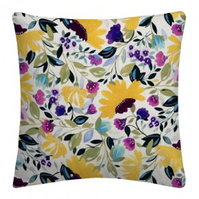 Clarke and Clarke Artbook Isabelles Garden Linen Chartreuse Cushion Covers