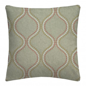 Clarke and Clarke Halcyon Layton Pink/Apple Cushion Covers